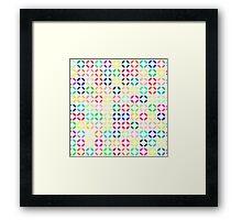Bright Multi Colored Modern Quatrefoil Framed Print