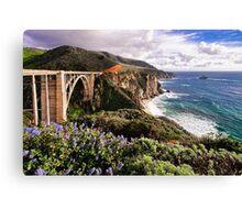 View Of The Bixby Creek Bridge Big Sur California Canvas Print