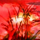 Abstract Serenity In Red by Sherri Nicholas by Sherri     Nicholas