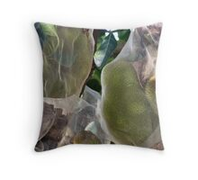 A tropical Durian Asian  Fruit Tree Throw Pillow