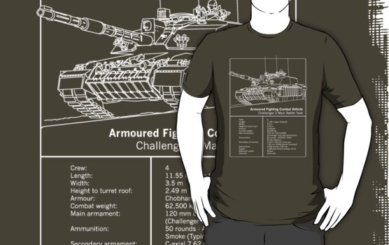 Challenger 2 Tank Facts Shirt by Jem Wright