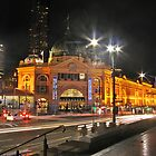 Flinders Street Station By Night by FrankZ