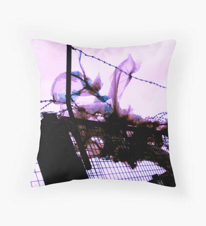 razor wire bag Throw Pillow