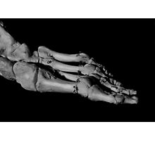 Skeleton Foot Photographic Print