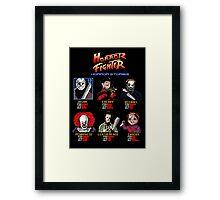 Horror Fighter Framed Print