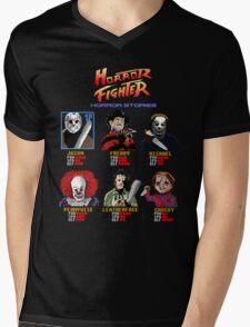 Horror Fighter Mens V-Neck T-Shirt