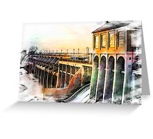 Watercolor Dam Greeting Card