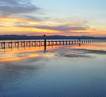 The Long Jetty Sunset by John  Cameron