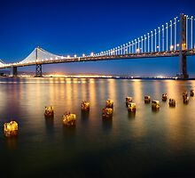 Bay Bridge Night View by George Oze