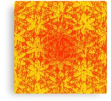 Fiery Halftone Flowers Canvas Print