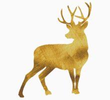 Deer Faux Gold  Baby Tee
