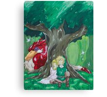 Link and Zelda napping Canvas Print