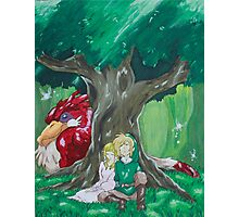 Link and Zelda napping Photographic Print