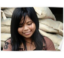 Girl in the village, East Bali Poster