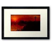 """""""Barwon Sunrise"""" Framed Print"""