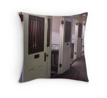 officer's quarters in line Throw Pillow