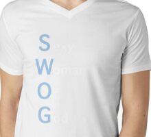 S. W. O. G. Mens V-Neck T-Shirt