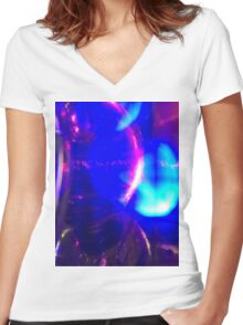 Glow 1 Women's Fitted V-Neck T-Shirt