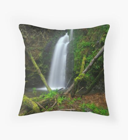 Wild Dog Falls - Great Otway National Park Throw Pillow