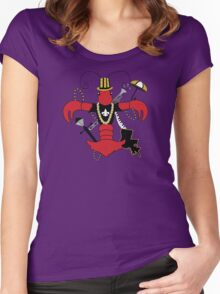 Red Crawfish Fleur de Lis Women's Fitted Scoop T-Shirt