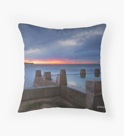 Castles in the Sand - Coogee Beach, NSW Throw Pillow