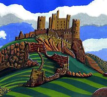185 - BAMBURGH CASTLE - 02 (GOUACHE) by BLYTHART