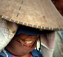 Balinese Lady in a Bamboo Hat by JonathaninBali