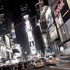 Times Square, New York City, at night by Florian Gerus