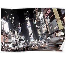Times Square, New York City, at night Poster