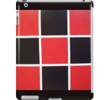 Red and Black Checkered iPad Case/Skin