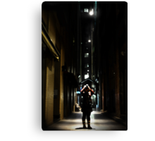 Just a frame of a light above my head Canvas Print
