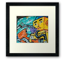 Coffee Robot Framed Print