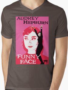 Audrey Hepburn in Funny Face Mens V-Neck T-Shirt