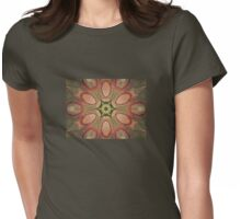 Rose colored petals Womens Fitted T-Shirt