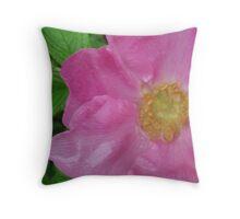 Rainy Day Rose Throw Pillow