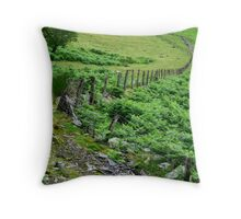 Around Pistyllrhaeadr Throw Pillow