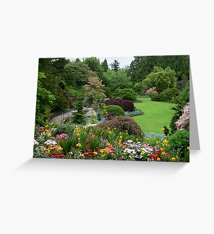 The Park Gardens, Vancouver BC Greeting Card
