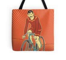 Retro Cyclist Tote Bag