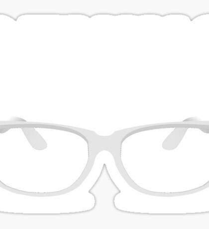 Genius Geek Glasses Nerd Smart Sticker