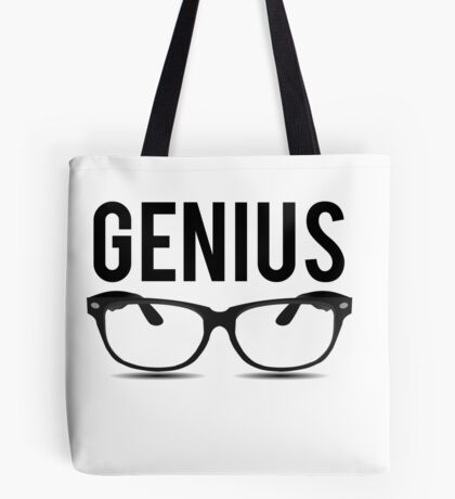 Genius Geek Glasses Nerd Smart Tote Bag