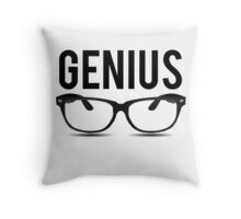 Genius Geek Glasses Nerd Smart Throw Pillow