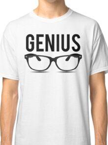 Genius Geek Glasses Nerd Smart Classic T-Shirt
