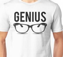 Genius Geek Glasses Nerd Smart Unisex T-Shirt