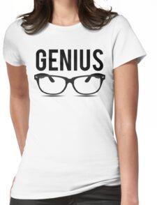 Genius Geek Glasses Nerd Smart Womens Fitted T-Shirt