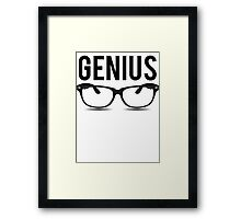 Genius Geek Glasses Nerd Smart Framed Print