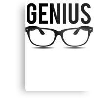 Genius Geek Glasses Nerd Smart Metal Print