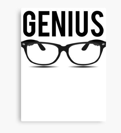Genius Geek Glasses Nerd Smart Canvas Print