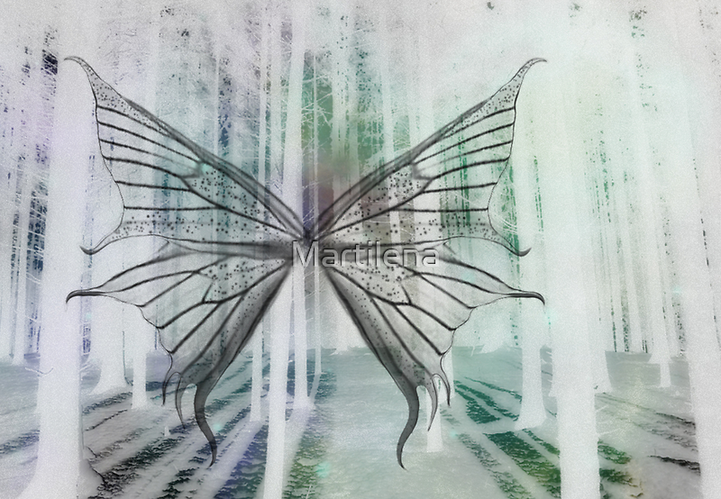 Butterfly In Mysterious Forest by Martilena