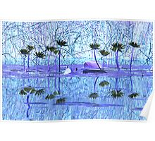 Morning Reflection by Lily Pond  Poster