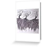 Three Dancing Trees (Lines Series) Greeting Card